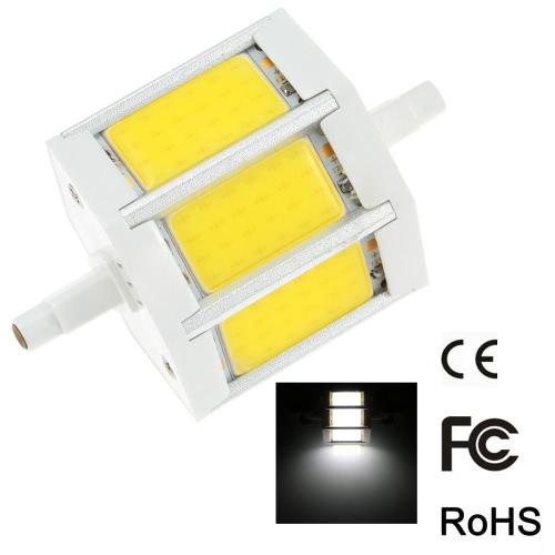 R7s 10W 78mm 800-900LM AC85-265V COB LED bulbo luz milho lâmpada projector Dimmable 270 graus iluminação alto brilho branco от tomtop.com INT