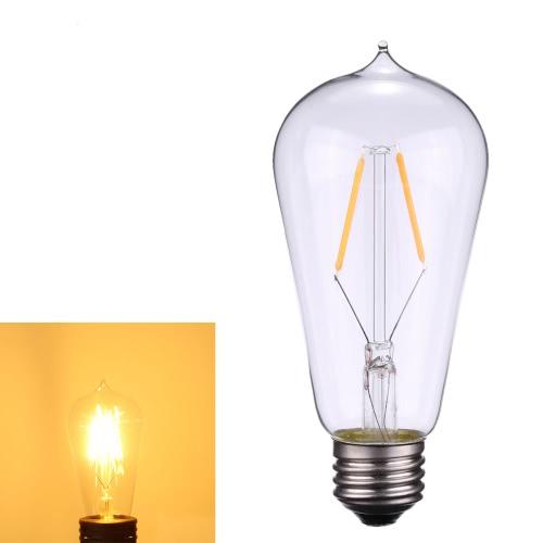 Tomshine 2W ST58 LED Filament Bulb Light AC220-240V E27 Base 2700k Vintage Retro Holiday Festival Decorations Warm White