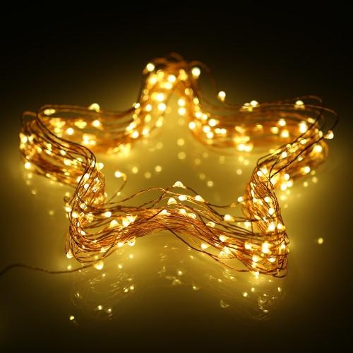 12M 100 LEDs Solar Powered Sensor de luz de cobre Lâmpada Corda Xmas Decoração de Natal para festa de casamento Jardim Home Decor от tomtop.com INT