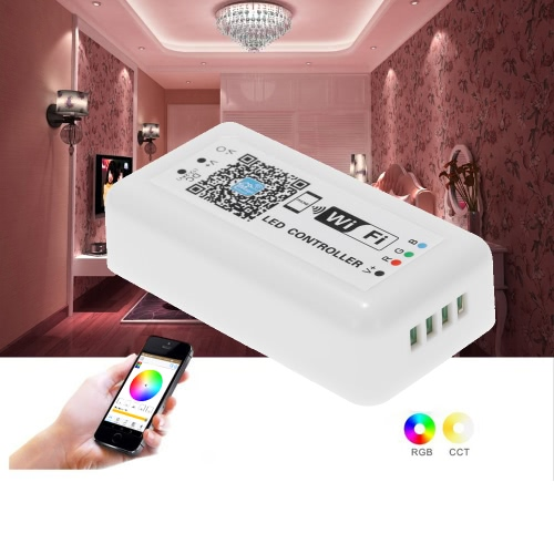 12V-24V LED RGB WiFi Controller for Strip Light  5050/3538 RGB LED Light / Bulb 3 Channels Smartphone for iOS/ for Android APP Control with Music/Timing Function L1394