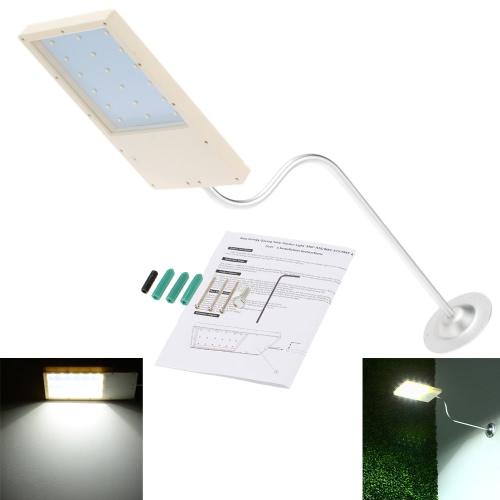 LED montés solaire alimenté la commande d'éclairage lumineux superbe capteur mur lampe 18 LED économiseur d'énergie, rue jardin étanchéité mince