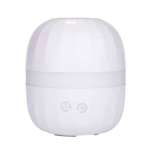 Ultrasonic Aroma Diffuser 100ml Air Humidifier LED Night Light Oval-Shaped Essential Oil Adjustable Mist Steam Maker Fogger Touch Switch Color Changing Home Office Children's Room Use UK Plug