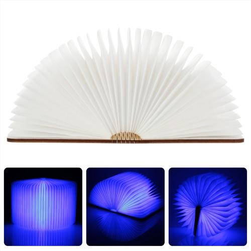 LIXADA LED Rechargeable pliant livre lumière 4.5W 500LM fonctionnant sur pile Changeable forme tableau plancher plafond lampe de chevet pratique et belle lumière luminaire intérieur bleu