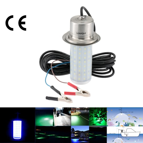 LIXADA 12V 50W IP68 0-30 m résistant à l'eau LED Lure Light lampe attracteur de poissons sous l'eau pour la pêche de nuit lac mer