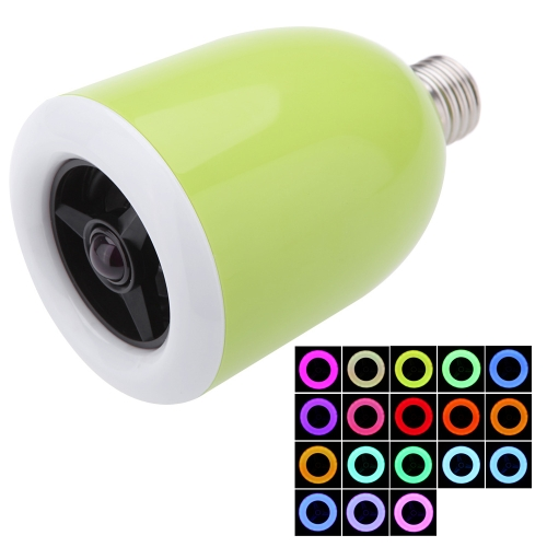 E27 LED Bulb Colorful Lamp 18 Colors Adjustable Wireless Bluetooth 4.0 Speaker for IOS Android Smart Phone IMAC/PC Energy-saving Music Player L0051GR