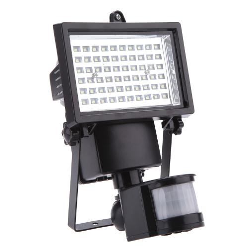 Lixada  60 LED PIR Human Body Motion & capteur de lumière Solaire propulsé panneau de sécurité Lampe projecteur Maison Accueil Garage Jardin Piscine Etang Cabanon