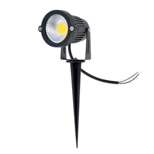 6W 12V AC DC IP65 Iluminação Preta de Gramado da Luz de Ponto de Alumínio Alta Potência RGB Branco Quente/Natural Exterior Lagoa Jardim Caminho CE RoHs от tomtop.com INT