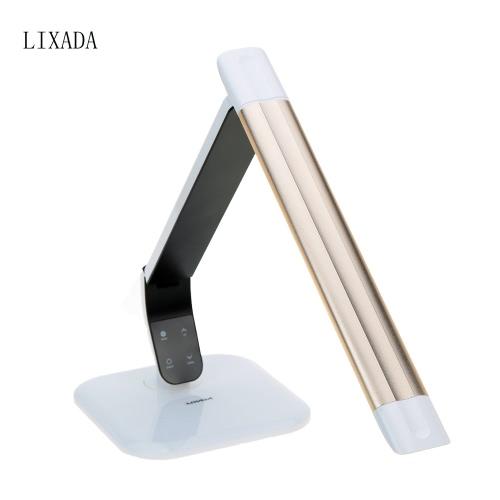 LIXADA toucher la lampe de Table mené interrupteur variateur oeil protéger luminosité réglable & couleur température Flexible TUV certifié pour l'étude de chambre dortoir bureau pliable