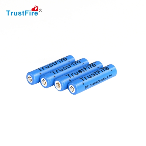 4PCS AAA 10440 600mAh 3.7V TrustFire Rechargeable Lithium BatteryChargers &amp; batteries<br>4PCS AAA 10440 600mAh 3.7V TrustFire Rechargeable Lithium Battery<br><br>Blade Length: 5.0cm
