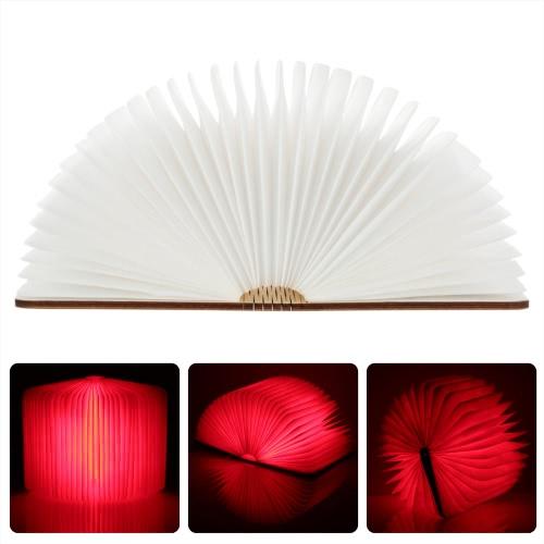 LIXADA LED Rechargeable pliant livre lumière 4.5W 500LM fonctionnant sur pile Changeable forme tableau plancher plafond lampe de chevet pratique et belle lumière luminaire intérieur rouge