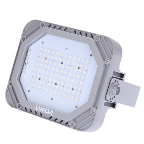 LIXADA certification UL 100-277V 80W 9200LM haute luminosité IP66 Résistant à l'eau LED White Light Flood Spot Lampe de sécurité pour mur de jardin éclairage extérieur