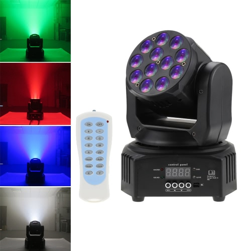 Mini 12 LEDs 40W RGBW Wash Rotating Moving Head Stage Effect Light 7/13 Channel DMX512 Sound-activeated with Reomote Control for Indoor Disco KTV Club PartyStage &amp; DJ Lighting Effect<br>Mini 12 LEDs 40W RGBW Wash Rotating Moving Head Stage Effect Light 7/13 Channel DMX512 Sound-activeated with Reomote Control for Indoor Disco KTV Club Party<br><br>Blade Length: 26.0cm
