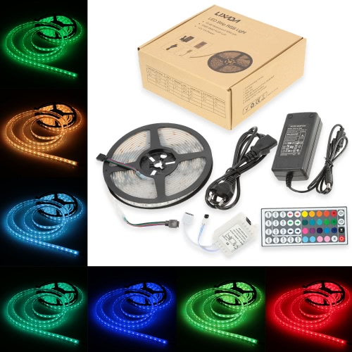 Lixada 5M/16.4ft SMD5050 300LEDs RGBW Flexible Strip Light Outdoor Waterproof IP68 DC 12V 12W/Meter with Power Plug 44Keys Remote Control for Decoration Festival CelebrationLED String<br>Lixada 5M/16.4ft SMD5050 300LEDs RGBW Flexible Strip Light Outdoor Waterproof IP68 DC 12V 12W/Meter with Power Plug 44Keys Remote Control for Decoration Festival Celebration<br><br>Blade Length: 19.0cm