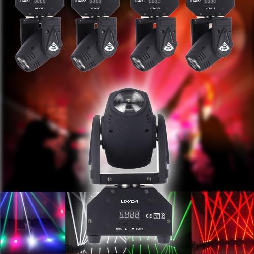 Lixada estágio LED efeito lâmpada 50W Total rotativa movendo cabeça DMX512 som ativado mestre-escravo Auto executando 11/13 canais RGBW cor alterando o feixe de luz para festa KTV Disco Club от tomtop.com INT