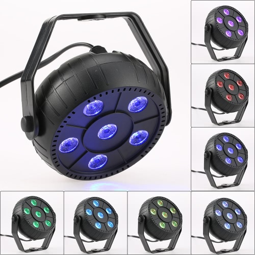 Mini 13W 6 LEDs RGB 3 in 1 Wash Effect Stage Par Light Ultra Long Lifespan Low Power Consumption Super Bright Portable Lamp Support Auto Sound Activation for Indoor Disco KTV Club Party Dormitory School Show от tomtop.com INT