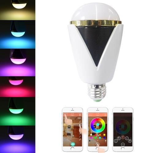 Utiliser des Samsung Galaxy Smartphone App contrôle intérieur Illuminative multicolores de 6 s/Plus 5W E26/E27 Smart Bluetooth RGB & blanc RGBW LED ampoule lumière BT Speaker musique lampe luminosité/Volume réglable pour iPhone