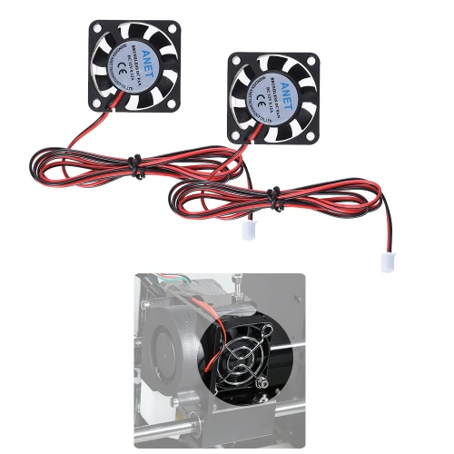 2pcs Anet 40 * 40 * 10mm DC 12V Brushless Cooling Cooler Fan 2 Wire for RepRap Prusa i3 DIY 3D PrinterStationery<br>2pcs Anet 40 * 40 * 10mm DC 12V Brushless Cooling Cooler Fan 2 Wire for RepRap Prusa i3 DIY 3D Printer<br><br>Blade Length: 10.0cm