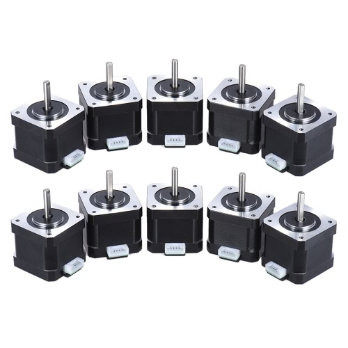 10pcs Nema 17 Stepper Stepping Motor Drive Control 2 Phase 1.8 Degree 0.9A 0.4N.M 42mm with Lead Cable 3D Printer/CNC Accessory ReplacementStationery<br>10pcs Nema 17 Stepper Stepping Motor Drive Control 2 Phase 1.8 Degree 0.9A 0.4N.M 42mm with Lead Cable 3D Printer/CNC Accessory Replacement<br><br>Blade Length: 28.0cm