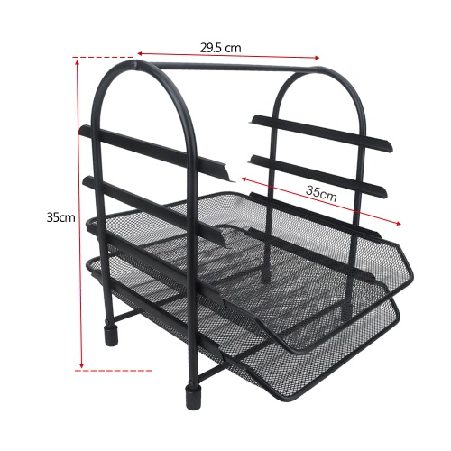 4-Tier File Document Letter Paper Tray Sorter Collection Office Desktop Organizer Holder Shelf Metal Mesh BlackStationery<br>4-Tier File Document Letter Paper Tray Sorter Collection Office Desktop Organizer Holder Shelf Metal Mesh Black<br><br>Blade Length: 36.5cm