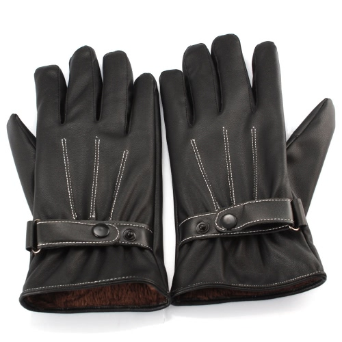 Unisex Fashion Gloves Fall Winter PU Leather Driving Touch Screen Warm Full Finger for iPhone Samsung Tablet PC Pad PA3302B