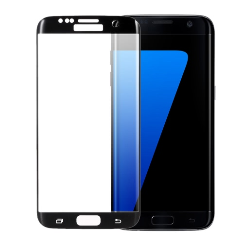 Arealer Full Screen Electroplating Tempered Glass Screen Protector Film Cover Curved Membrane Overall Protective Frame Arc Glass 9H 2.5D Ultrathin  for Samsung Galaxy S7 Edge PA3412B