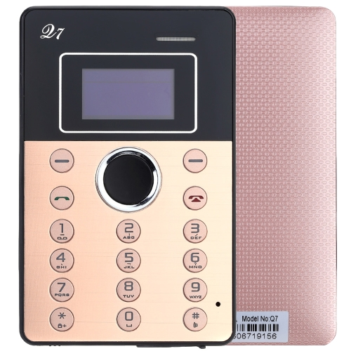"Aiek Q7 2G GSM Card Mini Mobile Cell Children Students Phone Pocket Ultra Slim MTK6261D 0.96"" OLDE Screen 260MHz 32MB RAM Low Radiation"