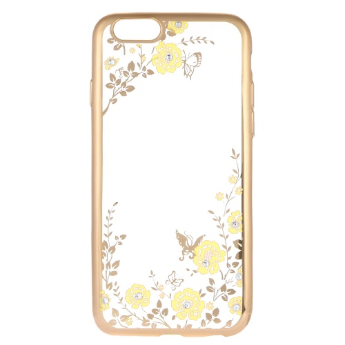 Buy Original KKMOON Luxury Protective Clear TPU Back Case Bling Rhinestone Bumper Frame Flexible Design Crystal Diamond Plating Phone Shell Cover iPhone 6 6S 4.7inch