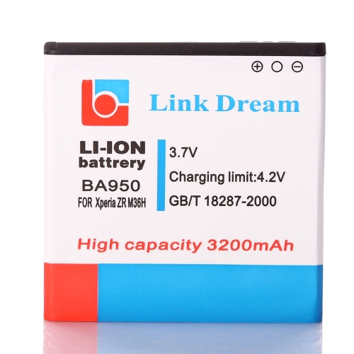 3.7V 3200mAh Rechargeable Li-ion Battery Replacement for Sony BA950 Xperia ZR M36h C5502 C5503 BA950Wireless Charging &amp; Accessories<br>3.7V 3200mAh Rechargeable Li-ion Battery Replacement for Sony BA950 Xperia ZR M36h C5502 C5503 BA950<br><br>Blade Length: 8.8cm