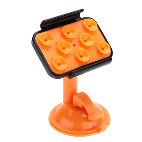 360 Degree Rotation Car Mounting 8 Suction Cups Adsorption Phone Holder Bracket Stand with Frame for iPhone 5 5S PA2229