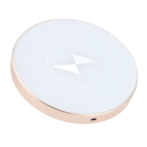 Buy Wireless Charger T400-C Qi Enabled Inductive Charging Pad Ring-shaped Station Aluminum Portable Mini Transmitter Standard Compatible Devices Ultrathin Slim