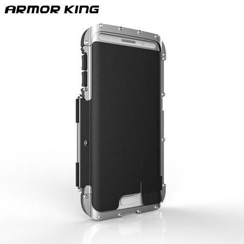 Original ARMOR KING IRON MAN Case for Samsung Galaxy S6 edge Stainless Steel Iron Man Design Metal Aluminum Frame Shock Drop Dust Proof PA2554-3