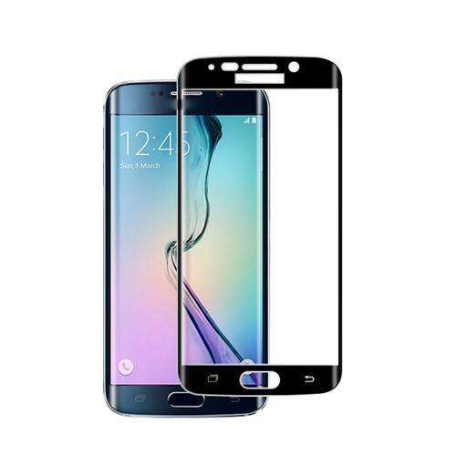 Premium Tempered Glass Screen Protector Film Cover Curved Membrane for Samsung S6 edge Overall Protective Frame Arc Glass 9H Ultrathin High Transpare PA2714B
