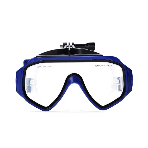 Diving Mask Action Camera Accessories Scuba Diving Google Snorkeling Silicone Tempered Glass Goggles for Xiaomi Xiaoyi Camera PA2968BL
