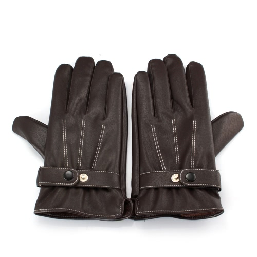 Unisex Fashion Gloves Fall Winter PU Leather Driving Touch Screen Warm Full Finger for iPhone Samsung Tablet PC Pad
