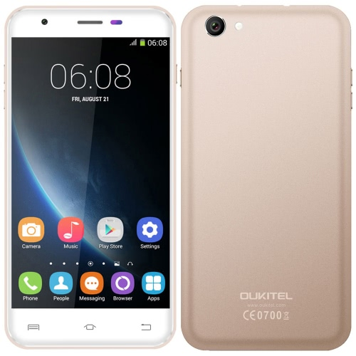 Buy OUKITEL U7 Pro Mobile Phone 5.5'' MTK6580 Quad Core 1.3GHz 1280 * 720 HD Android 5.1 1GB RAM 8GB ROM 13.0MP Dual SIM WCDMA 2500mAh Battery Smart