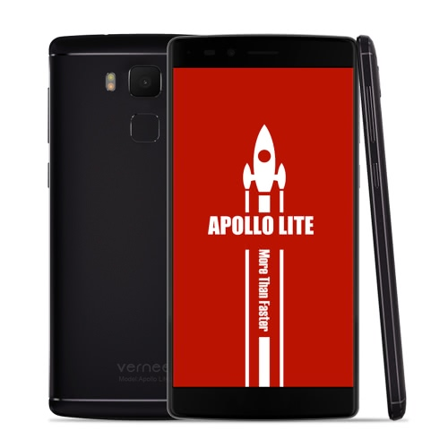 Vernee Apollo Lite Smartphone 4G FDD-LTE 3G WCDMA MTK6797 Helio X20 64-bit Deca Core 5.5 Inches 2.5D FHD 1920 * 1080 Pixels Screen Android 6.0 4GB RAM+32GB ROM 5MP+16MP Dual Cameras 4K Video 360 degree 0.1S Fingerprint ID Unlock PUMP EXPRESS 3.0 Fast Charge OTG Type C Dual-band WiFi