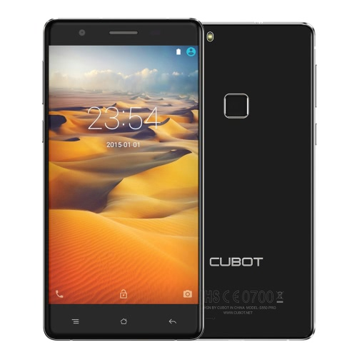 "CUBOT S550 Pro 4G FDD-LTE 3G WCDMA Smartphone Android 5.1 OS MTK6735 64bit Quad Core 5.5"""" IPS OGS Screen 3GB RAM 16GB ROM 8MP 13MP Dual Cameras Secure Fingerprint Scanner 2.5D Dual Curved Protective Glass"" P1526B-UK"
