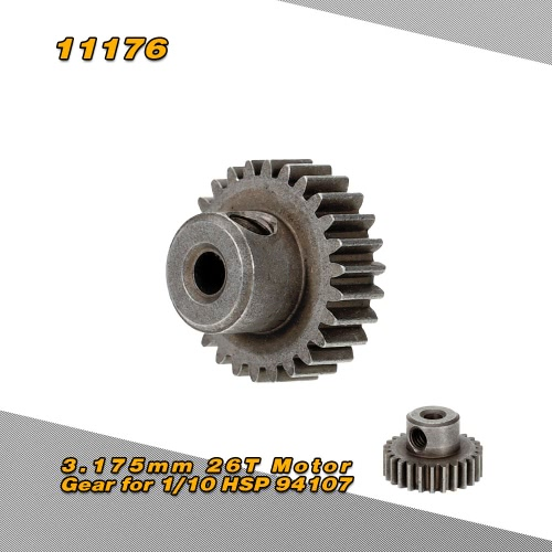 11176 3.175mm 26T Motor Gear for 1/10 HSP 94107 94170 4WD Electric Off-Road Buggy RM5120