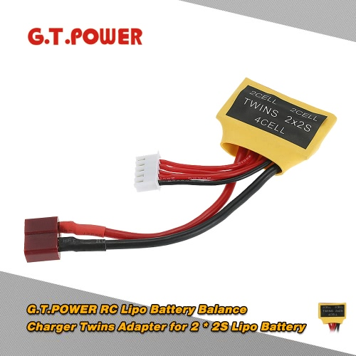 G.T.POWER RC Lipo Battery Balance Charger Twins Adapter for 2 * 2S Lipo Battery