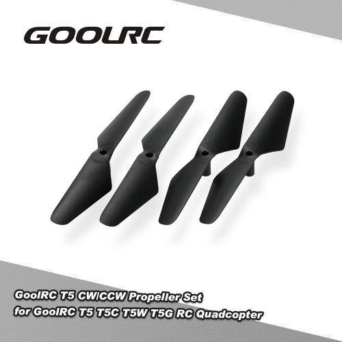 2 Pairs Original GoolRC T5 CW/CCW Propeller Set for GoolRC T5 T5C T5W T5G RC QuadcopterOther Toys<br>2 Pairs Original GoolRC T5 CW/CCW Propeller Set for GoolRC T5 T5C T5W T5G RC Quadcopter<br><br>Blade Length: 12.5cm