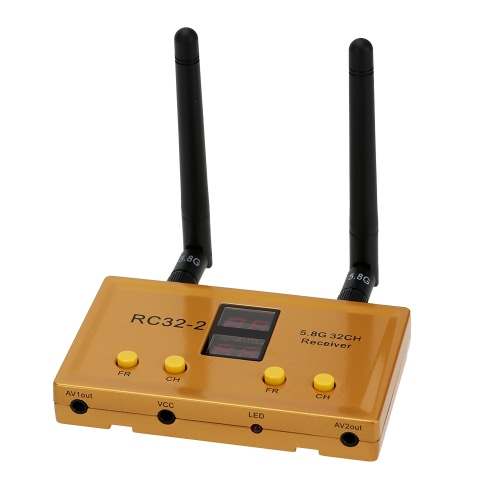 RC32-2 5.8G 32CH Weirless Dual Channel AV Receiver for FPV Aerial Photography RM4491