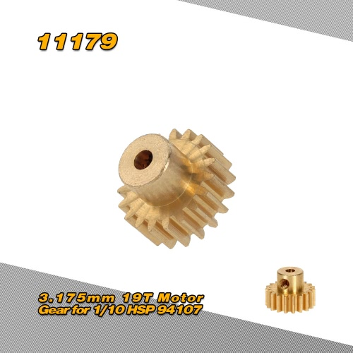 11179 3.175mm 19T Motor Gear for 1/10 HSP 94107 4WD Off-road Buggy