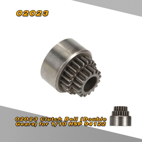 02023 Clutch Bell Double Gears for 1/10 HSP 94122 Nitro Powered On-road RC Drift Car RM5131