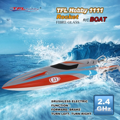 Buy TFL Hobby 1111 Rocket 2.4G Racing Brushless Electric Water Cooling Speedboat Fibre Glass RC Boat