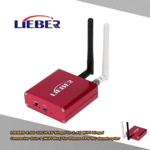 LIEBER 5.8G 32CH AV Singal to 2.4G WiFi Singal Converter 2-in-1 (WiFi Box) for Phone FPV RC QuadcopterImage Transmission<br>LIEBER 5.8G 32CH AV Singal to 2.4G WiFi Singal Converter 2-in-1 (WiFi Box) for Phone FPV RC Quadcopter<br><br>Blade Length: 12.5cm