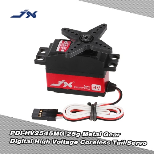 JX PDI-HV2545MG 25g Metal Gear Digital High Voltage Tail Servo for RC 450 500 Helicopter Fixed-wing AirplaneEMAX Servo<br>JX PDI-HV2545MG 25g Metal Gear Digital High Voltage Tail Servo for RC 450 500 Helicopter Fixed-wing Airplane<br><br>Blade Length: 6.0cm