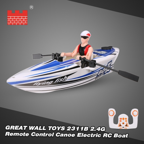 GREAT WALL TOYS 2311B 2.4G Remote Control Canoe Electric Rowboat RC Boat ToysBoat Toys<br>GREAT WALL TOYS 2311B 2.4G Remote Control Canoe Electric Rowboat RC Boat Toys<br><br>Blade Length: 24.0cm