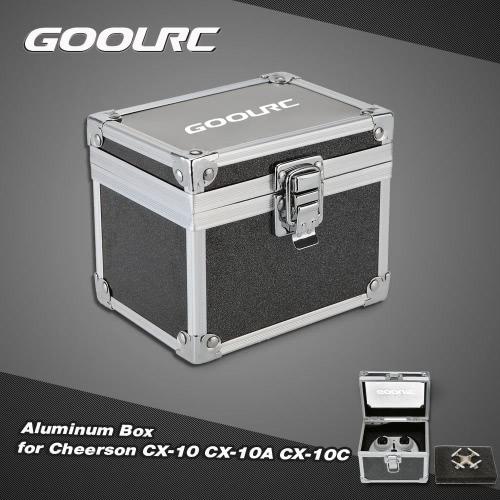 GoolRC Aluminum Box for Cheerson CX-10 CX-10A CX-10C Hubsan H111 RC QuadcopterAirplane Toys Parts<br>GoolRC Aluminum Box for Cheerson CX-10 CX-10A CX-10C Hubsan H111 RC Quadcopter<br><br>Blade Length: 12.3cm
