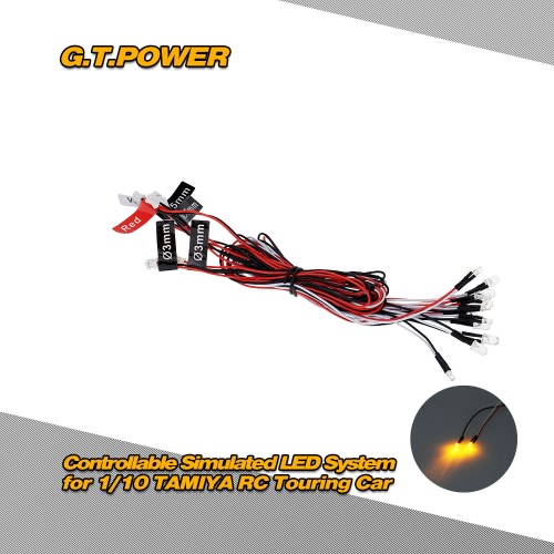 G.T.POWER Controllable Simulated LED System for 1/10 TAMIYA RC Touring CarRC Car Lights<br>G.T.POWER Controllable Simulated LED System for 1/10 TAMIYA RC Touring Car<br><br>Blade Length: 15.0cm