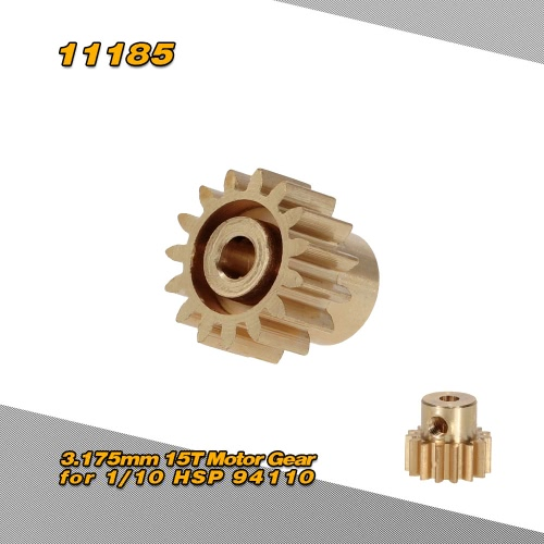 11185 3.175mm 15T Motor Gear for 1/10 HSP 94110 94115 4WD Off-road Buggy